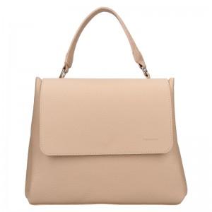 Dámska kožená kabelka Facebag Ditta - béžová