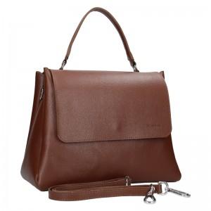 Dámska kožená kabelka Facebag Ditta - hnedá