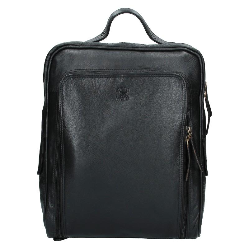 Pánsky kožený batoh Alweys Wild Denis - čierna