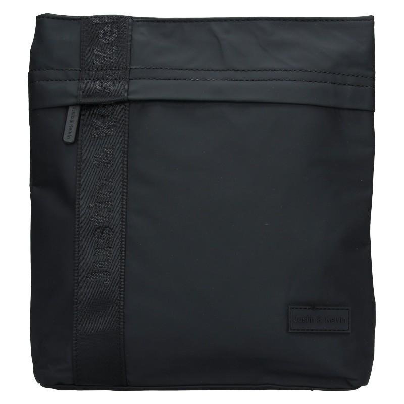 Pánska taška cez rameno Justin & Kelvin David - čierna