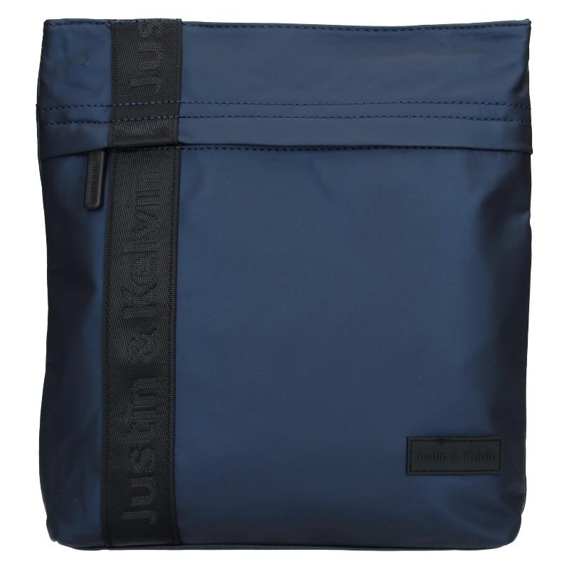 Pánska taška cez rameno Justin & Kelvin David - modrá