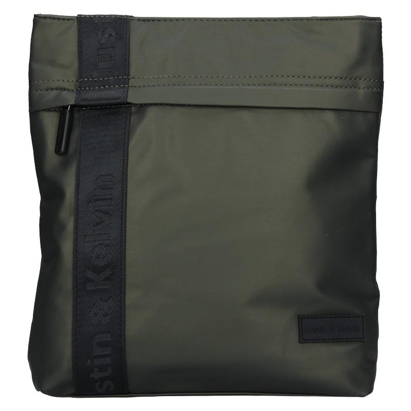 Pánska taška cez rameno Justin & Kelvin David - zelená