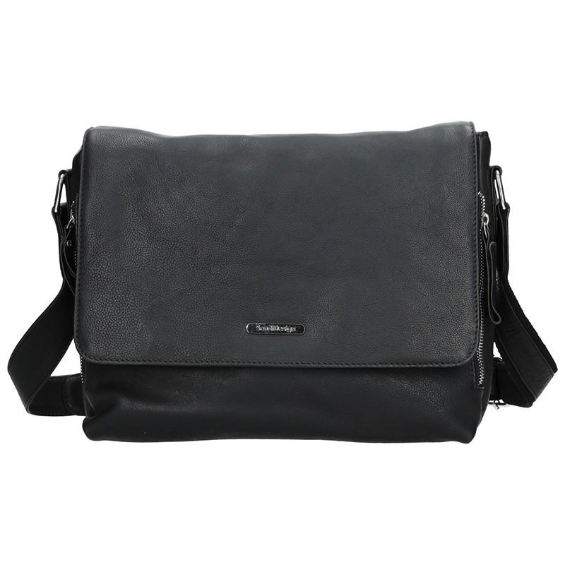 bca501ae7b Pánská kožená taška přes rameno SendiDesign Morel - černá. Pánská kožená  taška přes rameno SendiDesign Morel - černá Přiblížit