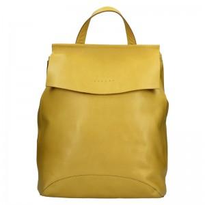 Dámsky kožený batoh Facebag Stella - žltá