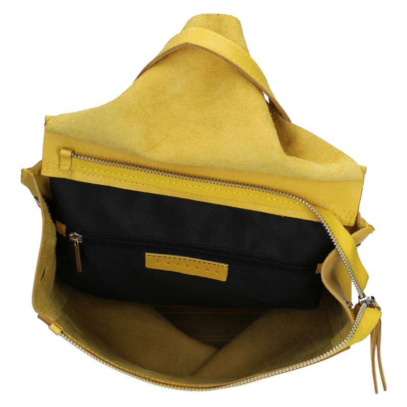 Dámsky kožený batoh Facebag Stella - žltá.