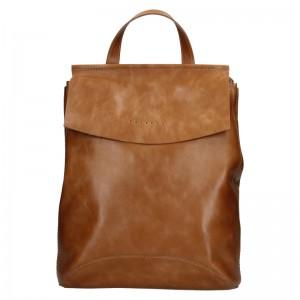 Dámsky kožený batoh Facebag Stella - koňak