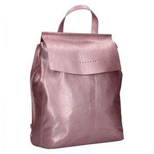 Dámsky kožený batoh Facebag Stella - ruzová