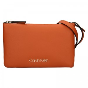Dámska crossbody kabelka Calvin Klein Ruby - oranžová