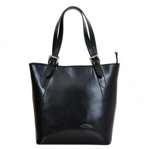 Dámska kožená kabelka L Artigiano Verra - čierna