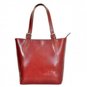 Dámska kožená kabelka L Artigiano Verra - hnedá