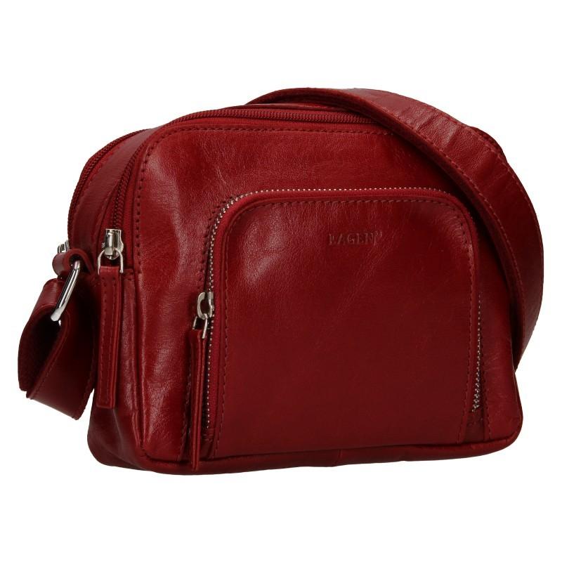 Dámska crosbody kabelka Lagen Candy - tmavo červená