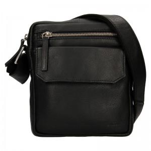 Pánska kožená taška cez rameno Lagen Čestmír - čierna
