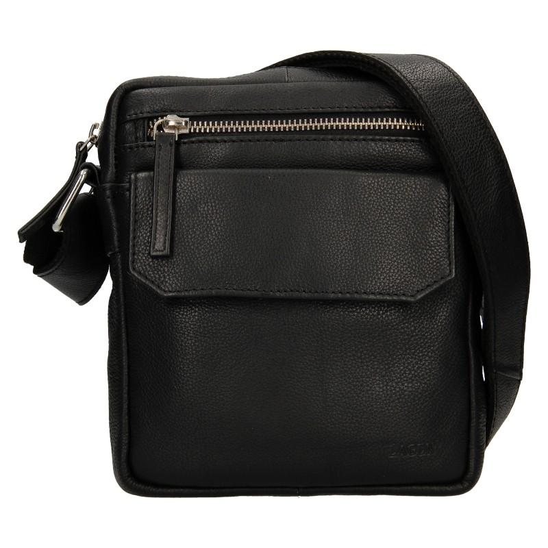 Pánska kožená taška cez rameno Lagen Vilém - čierna