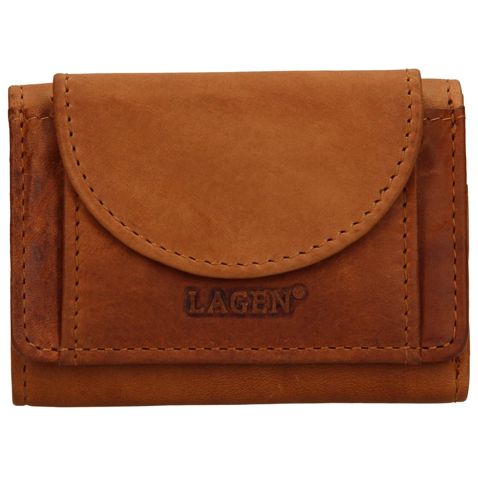 Dámska kožená slim peňaženka Lagen Simena - hnedá