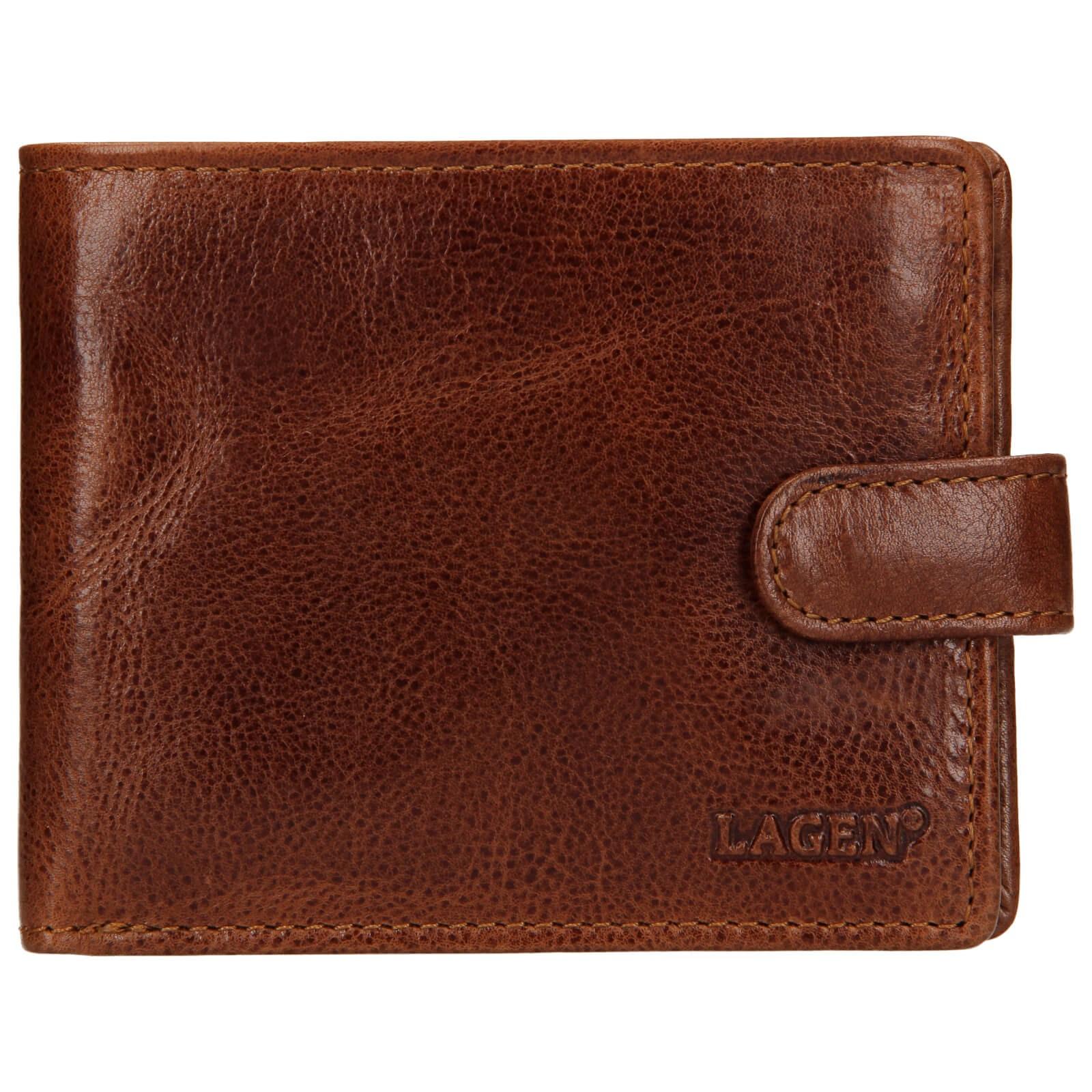 Pánska kožená peňaženka Lagen Mareto - svetlo hnedá