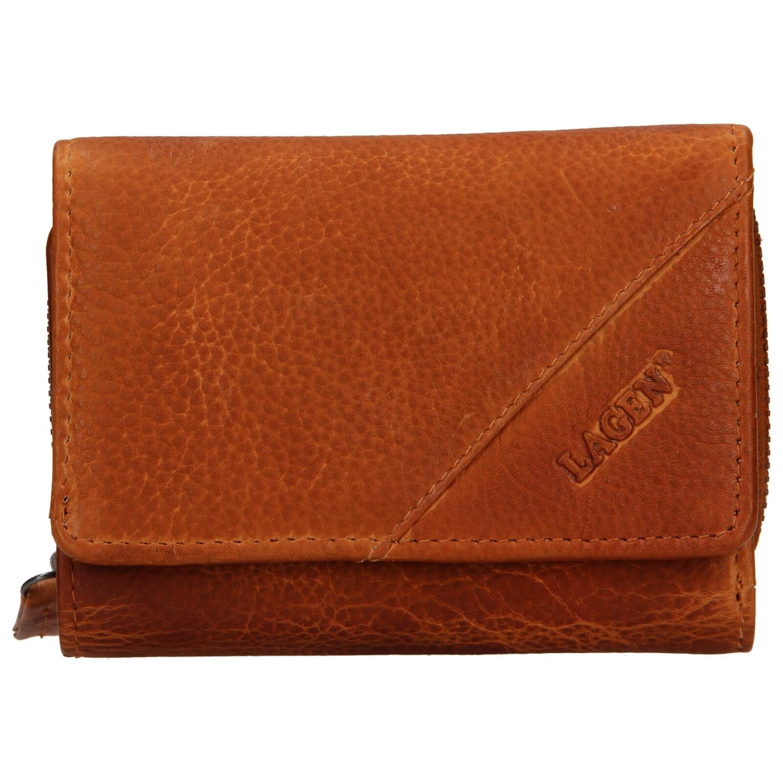 Dámska kožená peňaženka Lagen Norra - hnedá