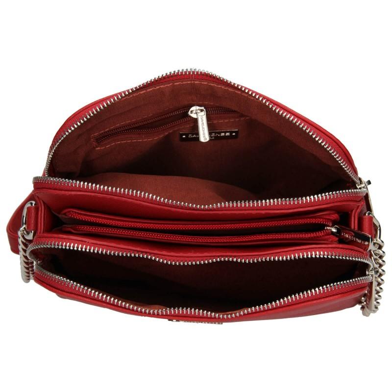 Dámska crossbody kabelka David Jones Celeste - červená