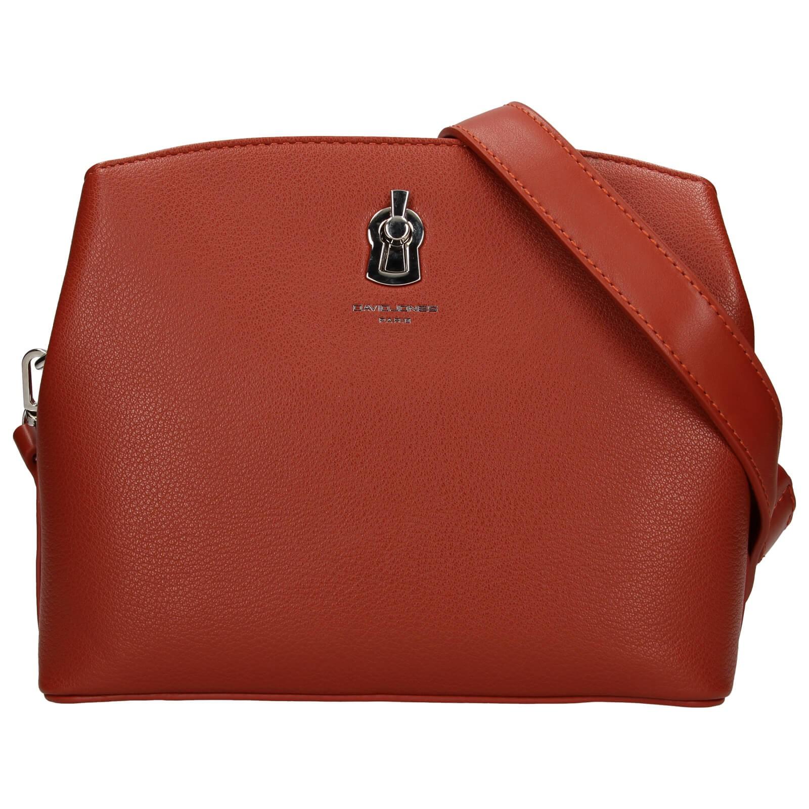 Dámska crossbody kabelka David Jones Karmen - červeno-hnedá