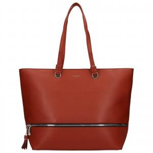 Dámska kabelka David Jones Edna - oranžovo-hnedá