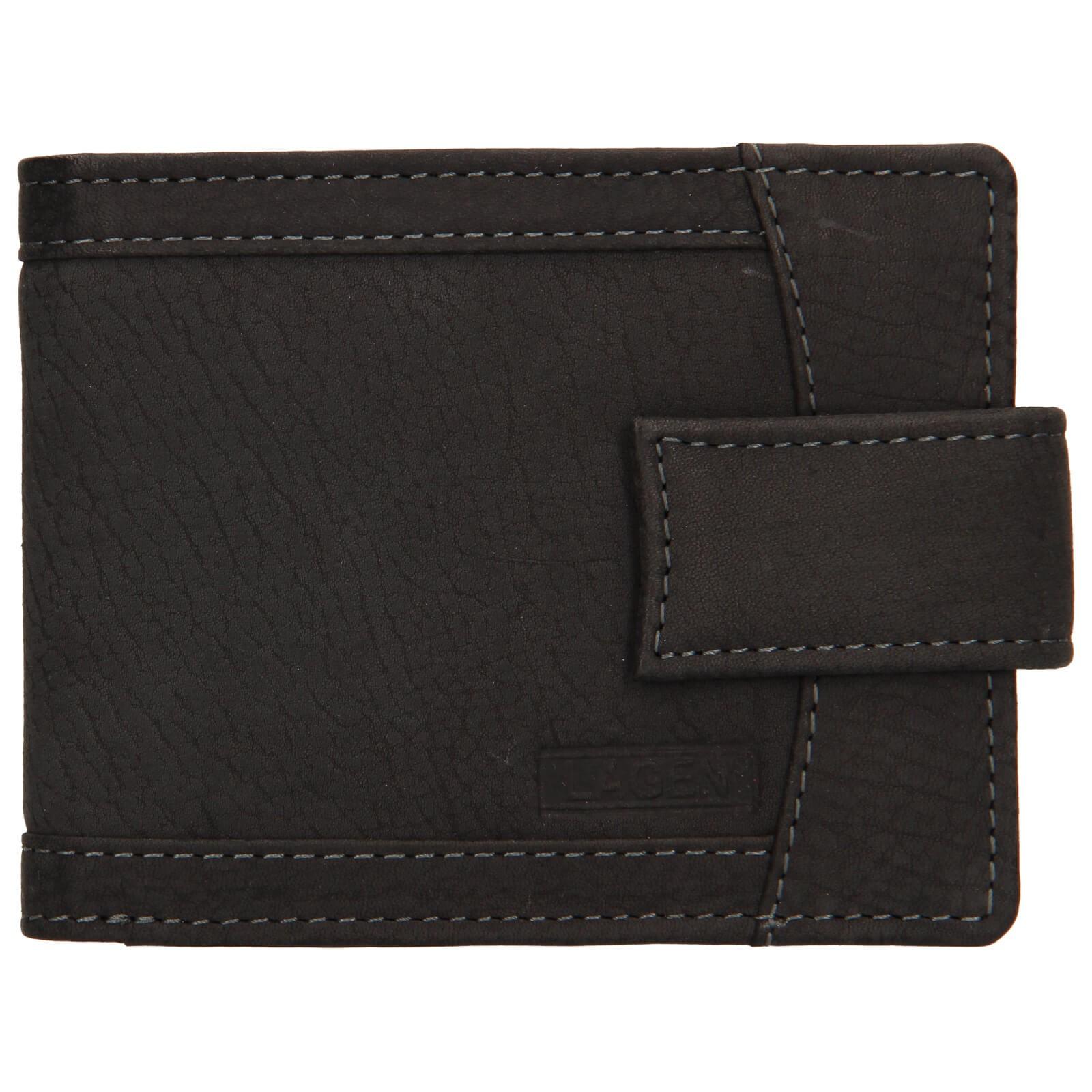 Pánska kožená peňaženka Lagen Jack - čierna