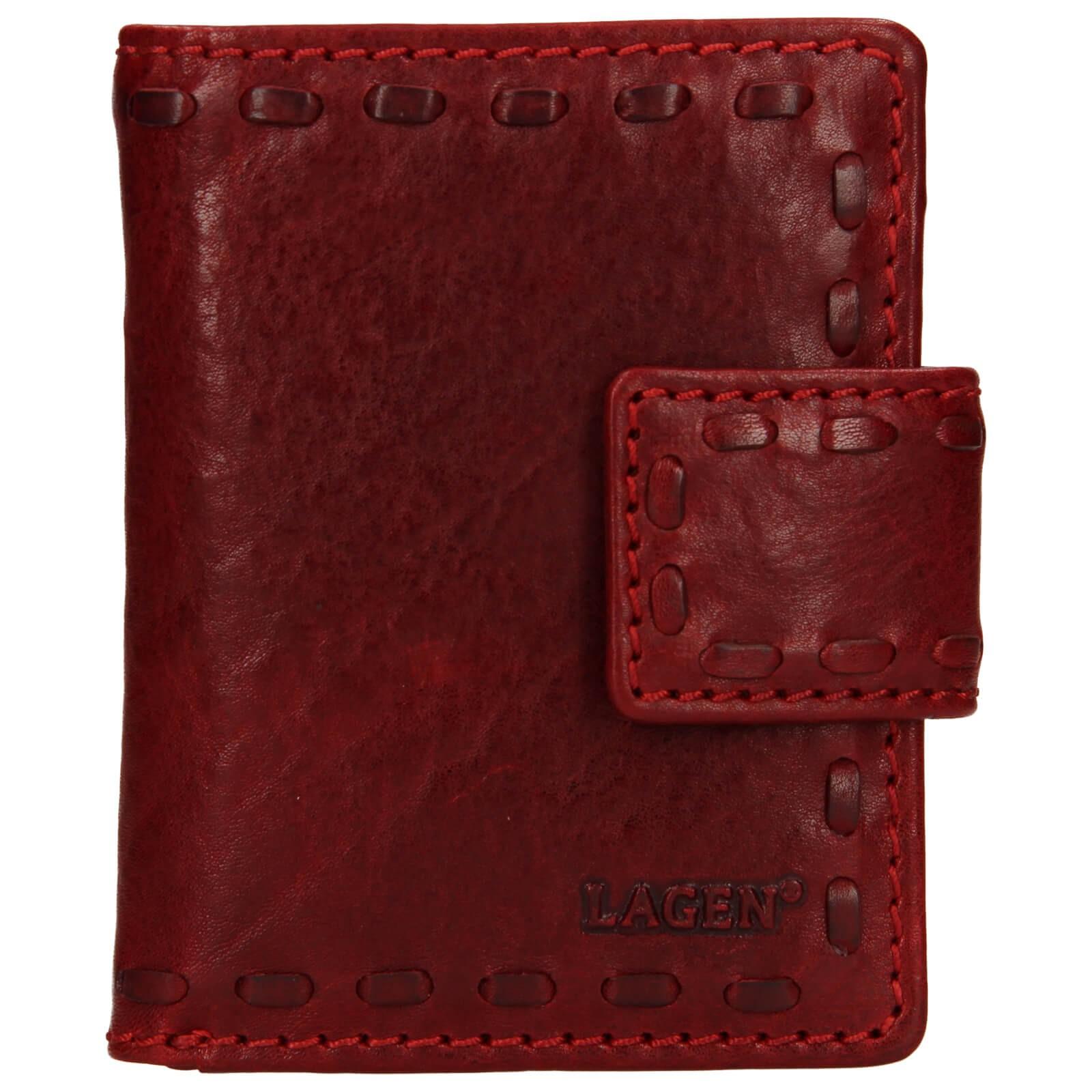 Dámska kožená peňaženka Lagen Luren - červená