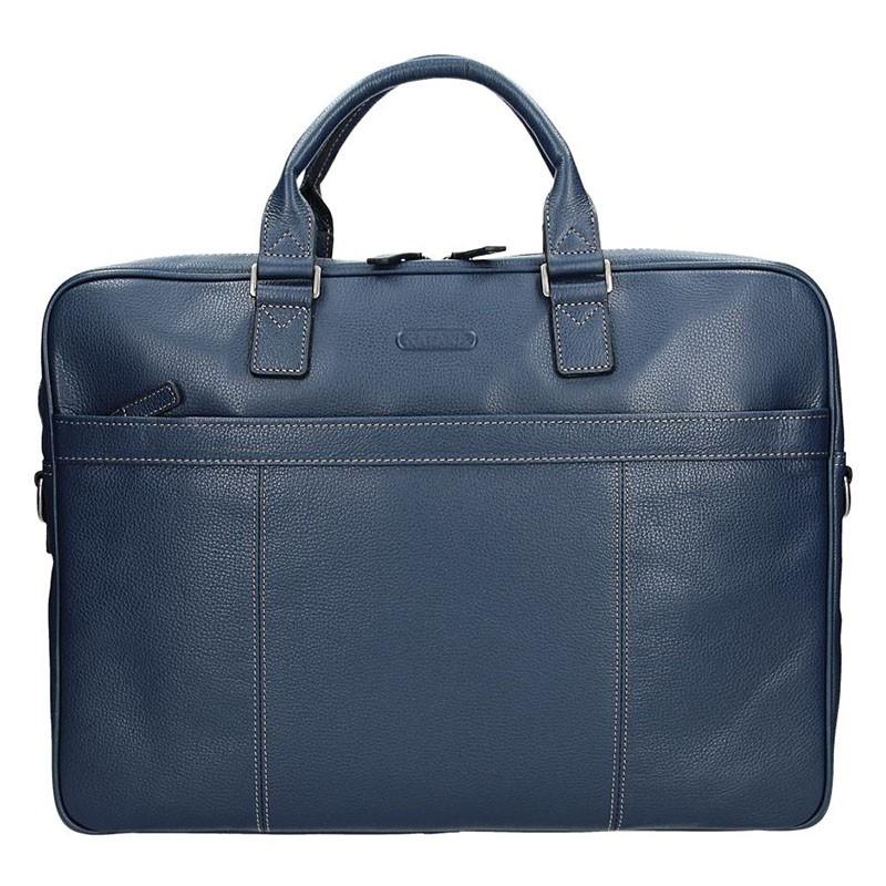 Pánska kožená taška cez rameno Katana Simons - modrá