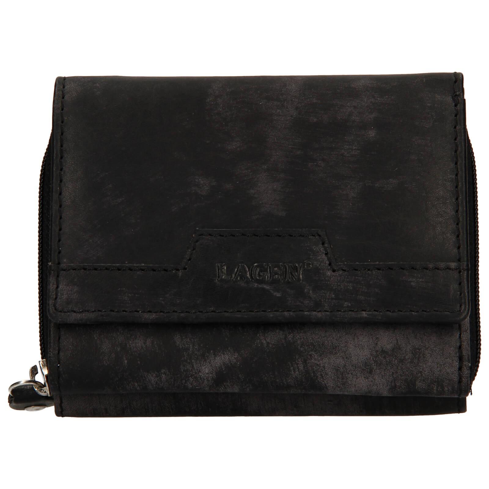 Dámska kožená peňaženka Lagen Olivia - čierna