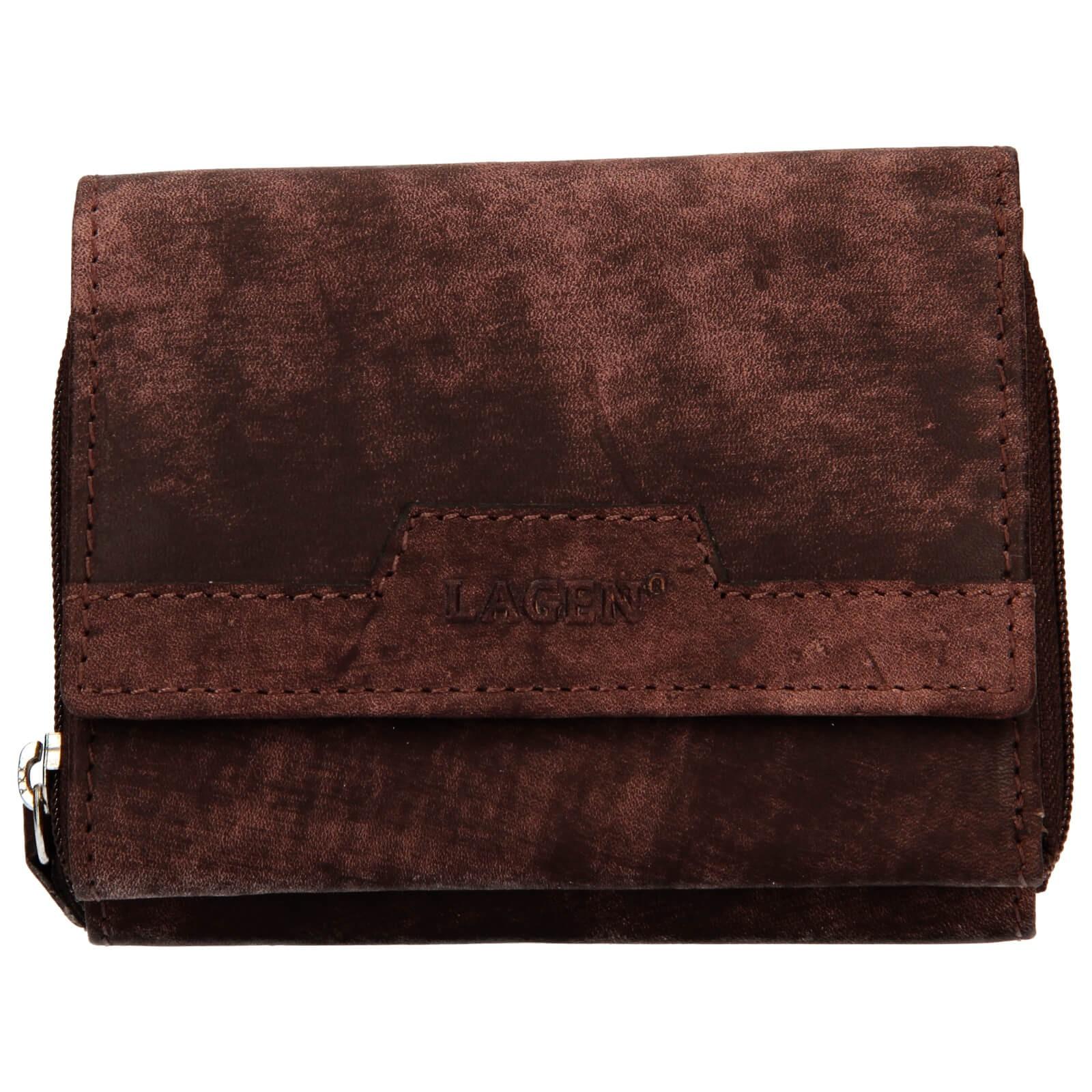 Dámska kožená peňaženka Lagen Olivia - hnedá