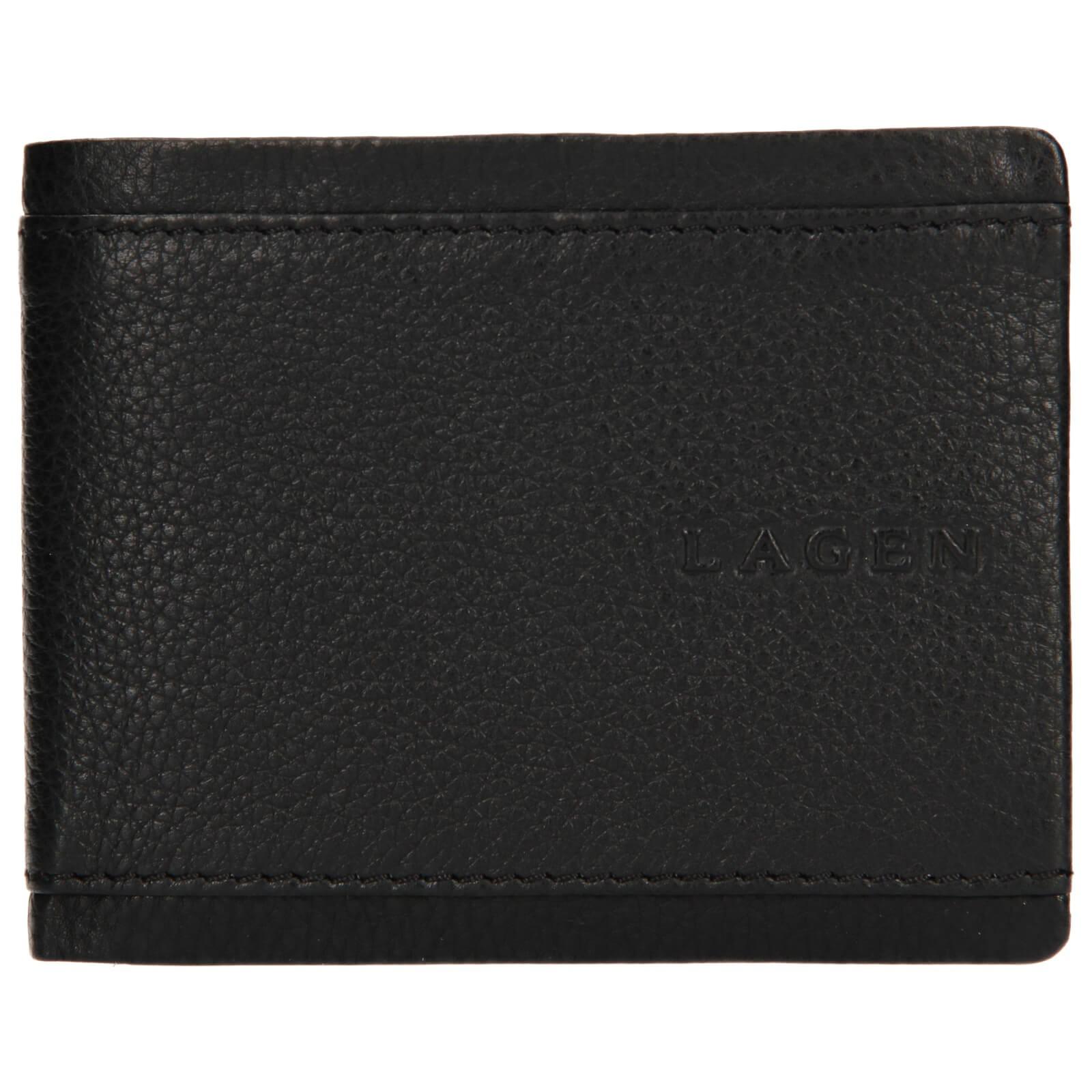 Pánska kožená peňaženka Lagen Luke - čierna
