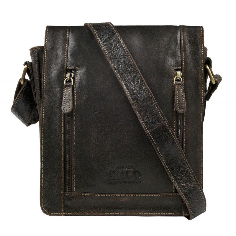 Pánská taška přes rameno Always Wild Libor - tmavo hnedá