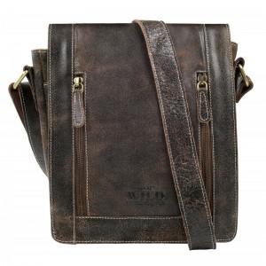 Pánská taška přes rameno Always Wild Libor - hnedá