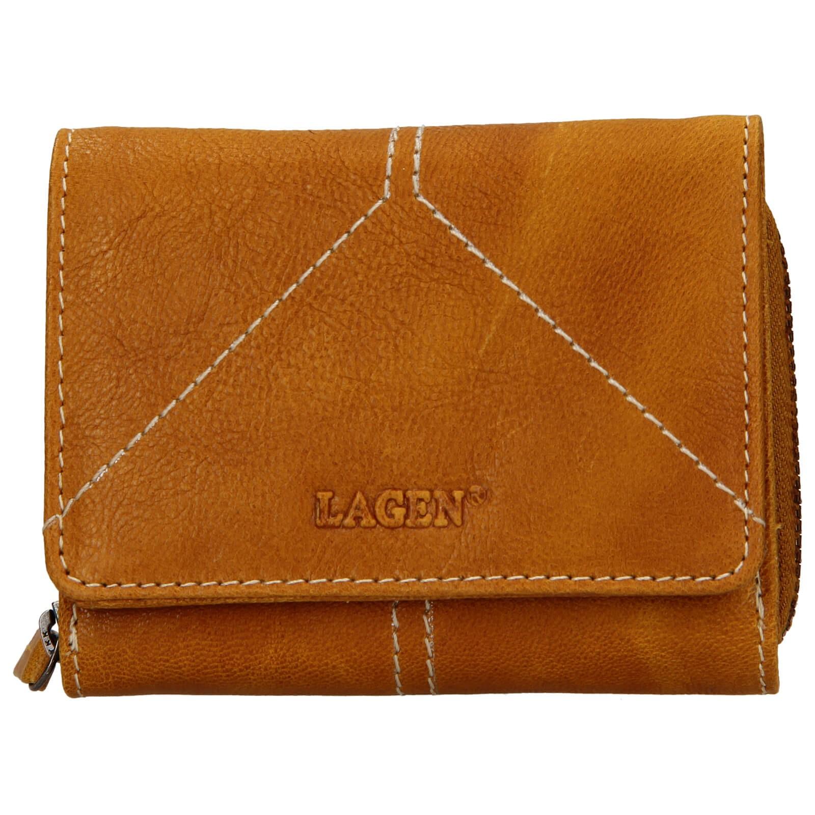 Dámska kožená peňaženka Lagen Amy - žltá