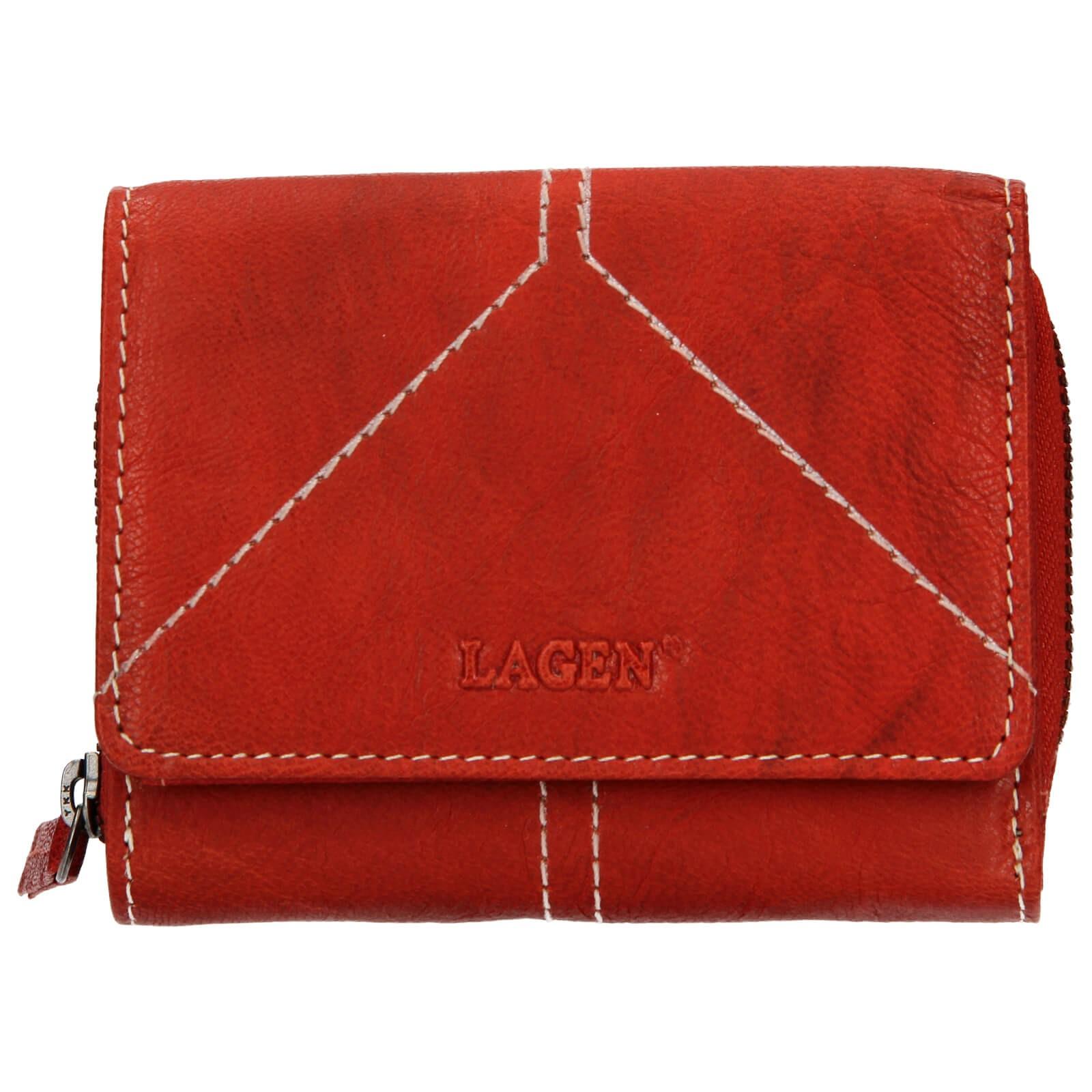 Dámska kožená peňaženka Lagen Amy - červená
