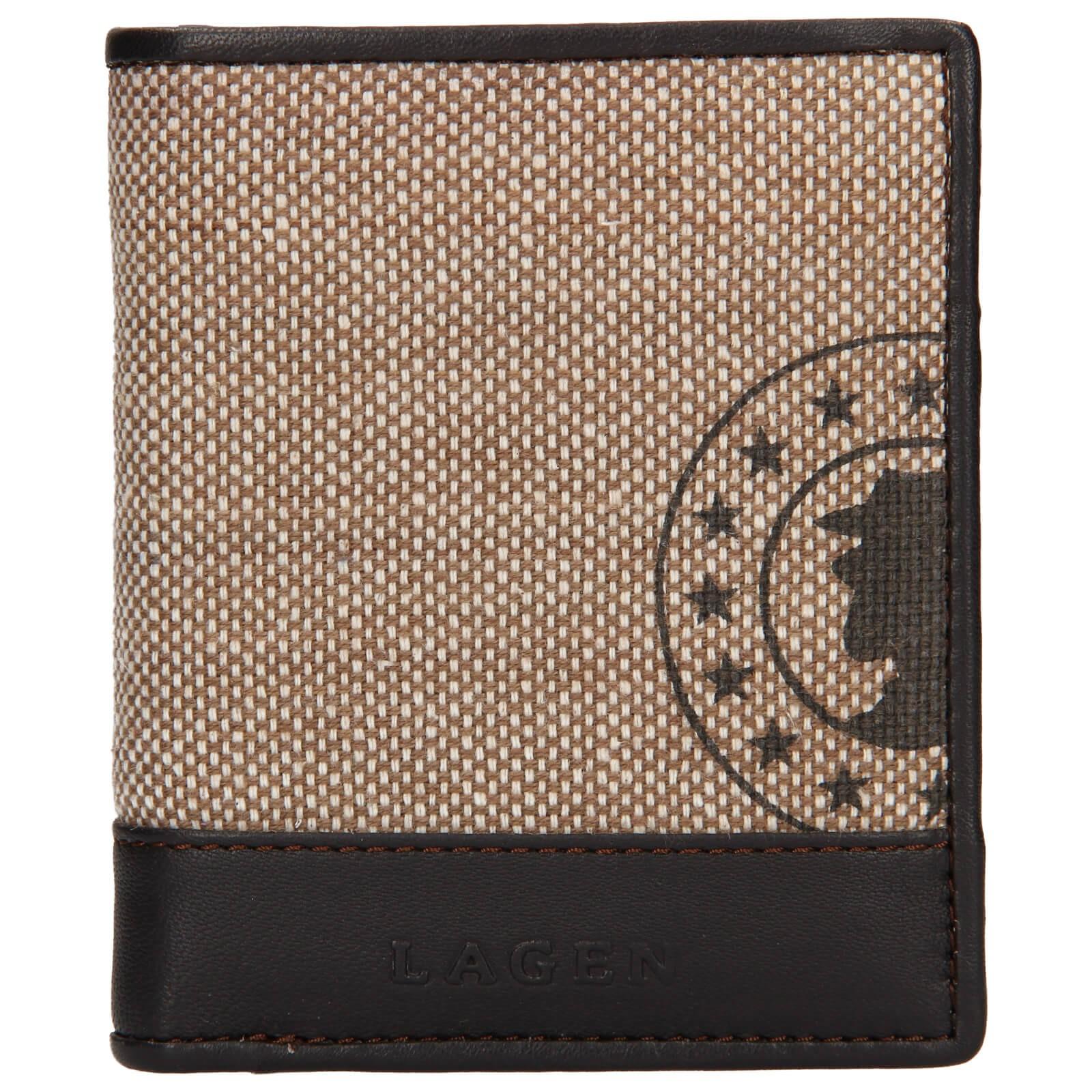 Pánska kožená peňaženka Lagen Adam - hnedá