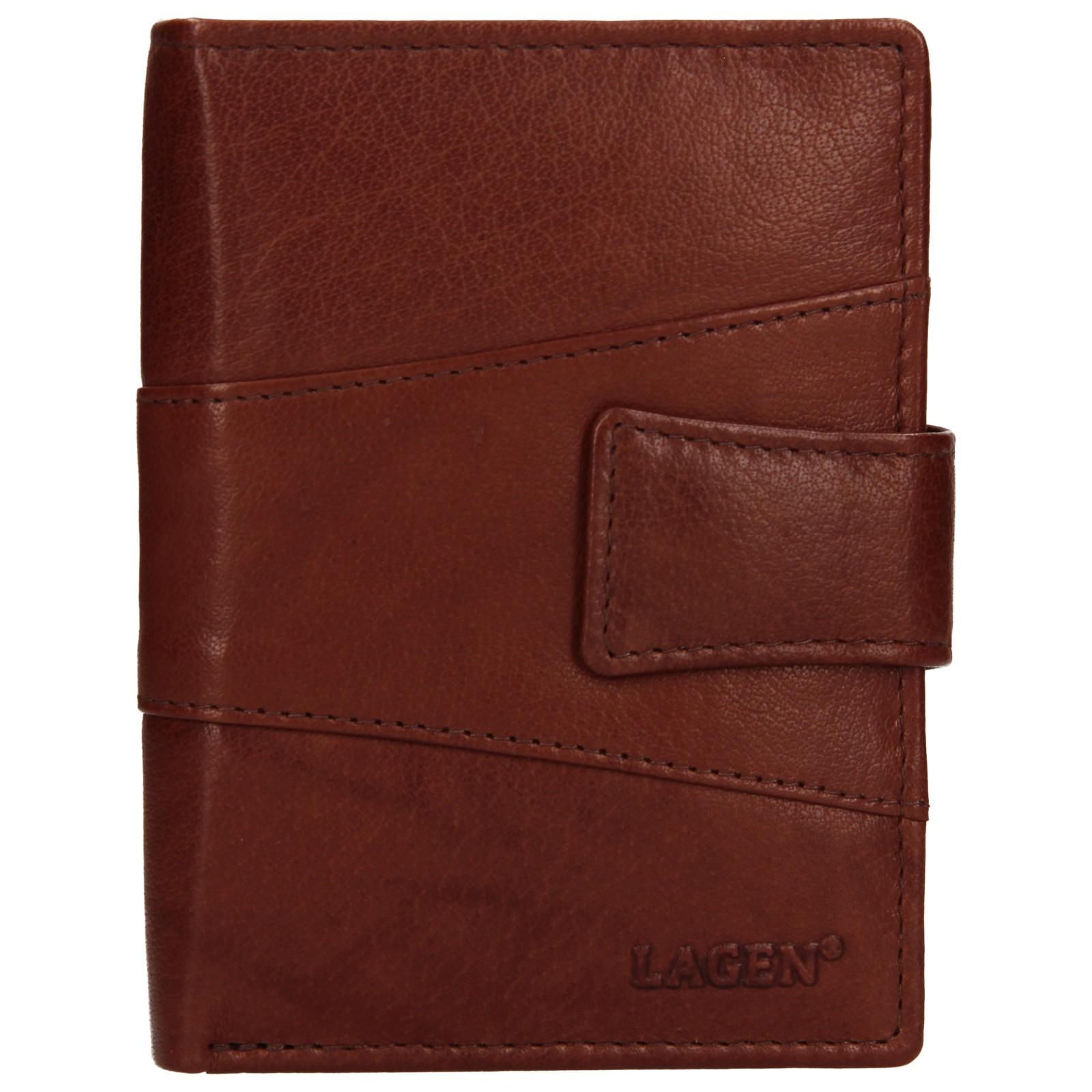 Pánska kožená peňaženka Lagen Conor - hnedá
