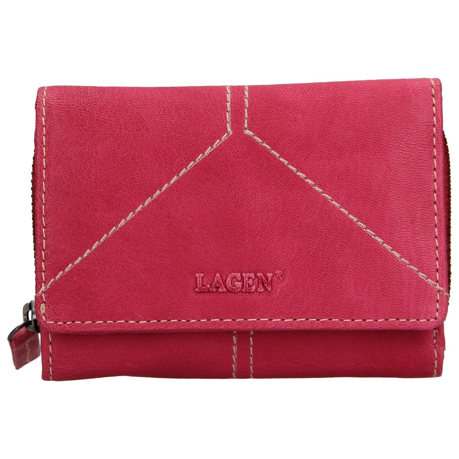 Dámska kožená peňaženka Lagen Katie - ružová