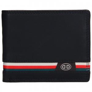 Pánska kožená peňaženka DD Anekta Frencis - tmavo modrá