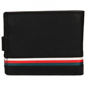 Pánska kožená peňaženka DD Anekta Frencis - čierná