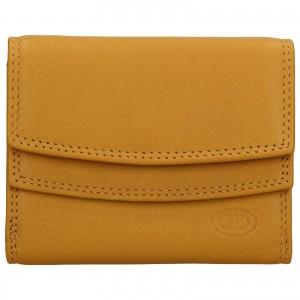 Dámska kožená peňaženka DD Anekta Renna - žltá