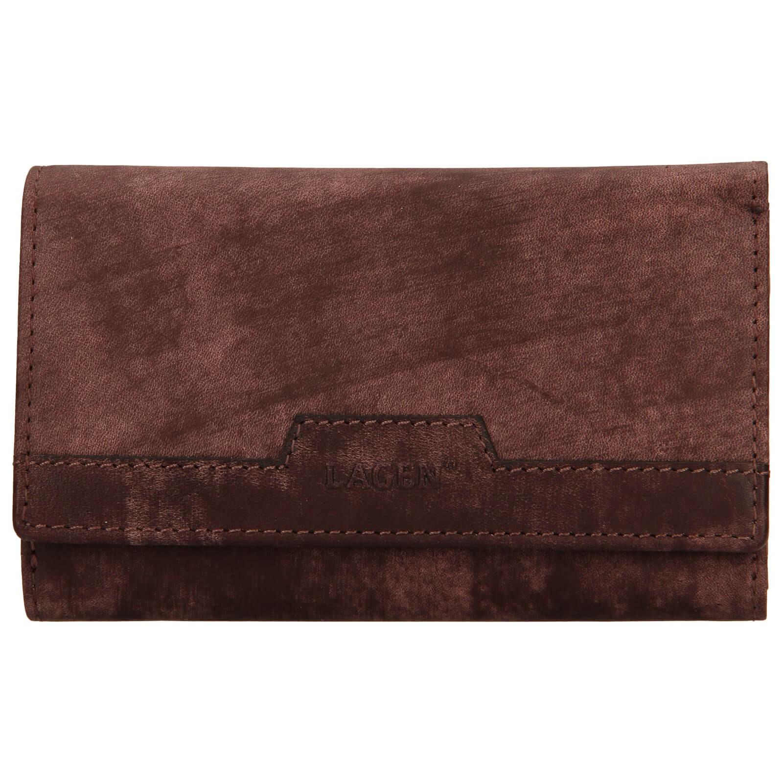 Dámska kožená peňaženka Lagen Perria - hnedá