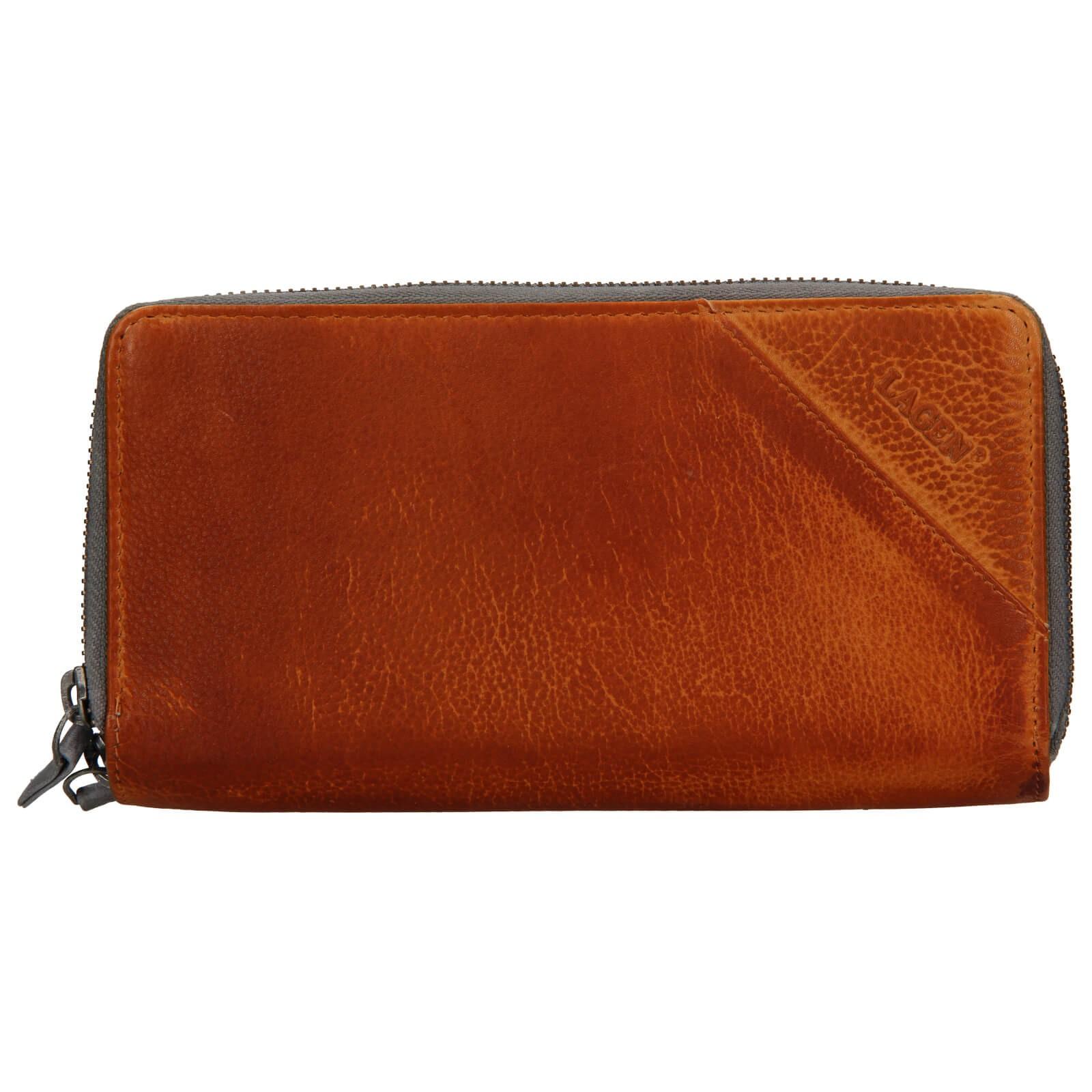 Dámska kožená peňaženka Lagen Eva - hnedá