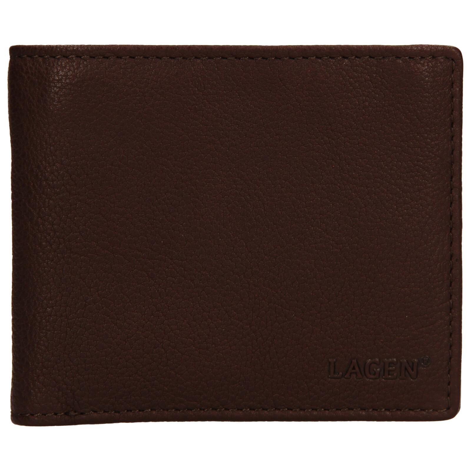 Pánska kožená peňaženka Lagen Jan - hnedá