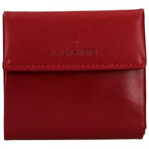 Dámska kožená peňaženka Lagen Aneta - červená