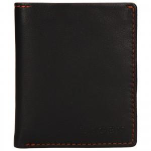 Pánska kožená peňaženka Lagen Patrik - tmavo hnedá