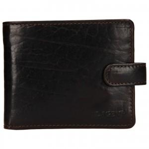 Pánska kožená peňaženka Lagen Mareta - tmavo hnedá