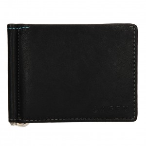 Pánska kožená peňaženka Lagen Libor - čierna