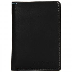 Pánska kožená peňaženka Lagen Radovan - čierna
