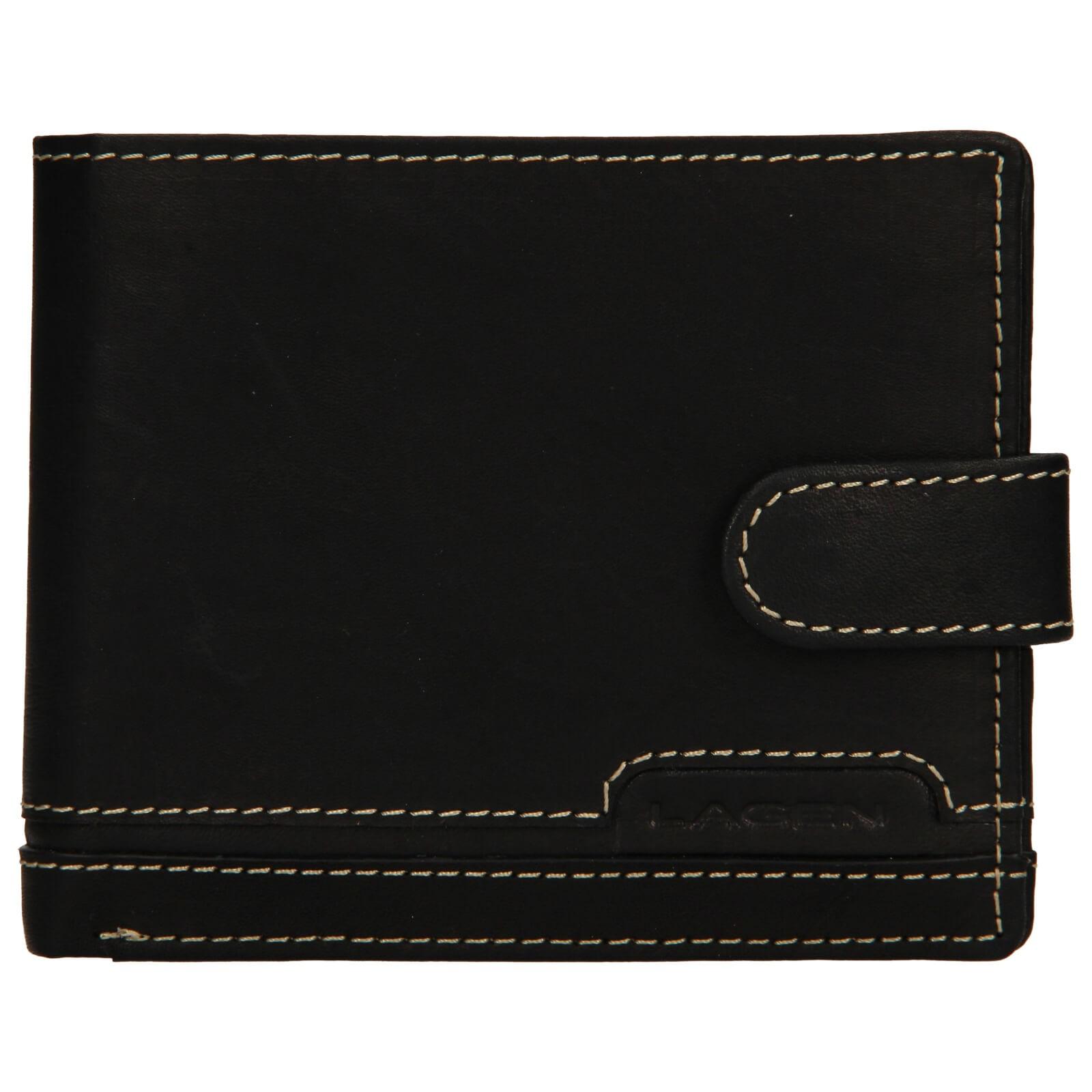 Pánska kožená peňaženka Lagen Marien - čierna