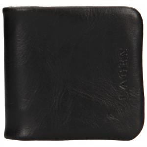 Pánska kožená peňaženka / mincovník Lagen Ivo - čierna
