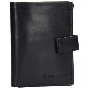 Pánska kožená peňaženka / vizitkár Lagen Michael - modrá